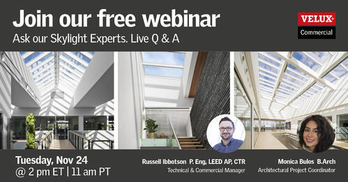 VELUX Webinar - Ask our Skylight Experts – Live Q&A
