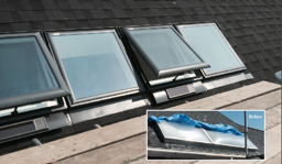 Sample replacement skylight
