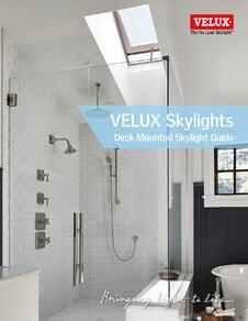 Deck Mounted VELUX Canada Guide Dimensions  and Options for Skylights