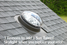 If you need natural light in small interior spaces consider adding a sun tunnel when you replace your roof VELUX Canada